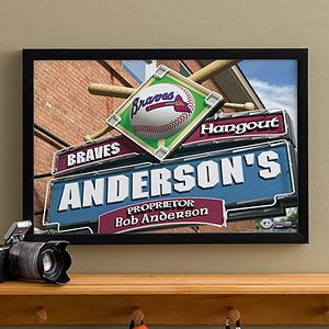 Personalized Atlanta Braves MLB Pub Sign Canvas Print - 11475