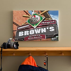 Personalized Arizona Diamondbacks MLB Pub Sign Canvas Print - 11483