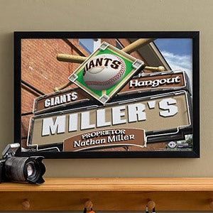 Personalized San Francisco Giants MLB Pub Sign Canvas Print - 11485