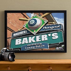 Personalized Seattle Mariners MLB Pub Sign Canvas Print - 11487