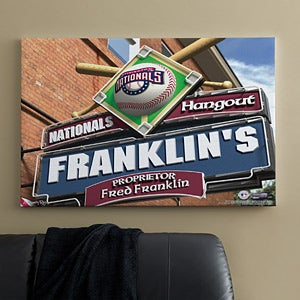 Personalized Washington Nationals MLB Pub Sign Canvas Print - 11491