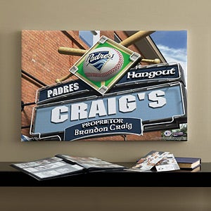 Personalized San Diego Padres MLB Pub Sign Canvas Print - 11493