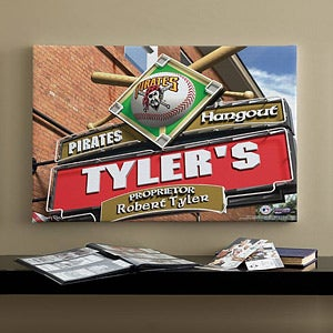 Personalized Pittsburgh Pirates MLB Pub Sign Canvas Print - 11495