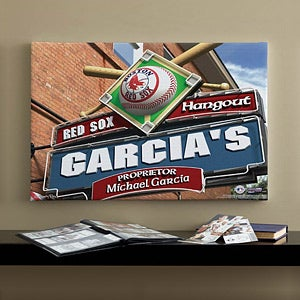 Personalized Boston Red Sox MLB Pub Sign Canvas Print - 11498