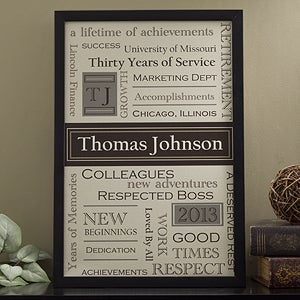 Personalized Retirement Canvas Art - 11504