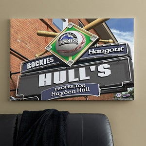 Personalized Colorado Rockies MLB Pub Sign Canvas Print - 11505
