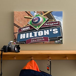 Personalized Minnesota Twins MLB Pub Sign Canvas Print - 11508