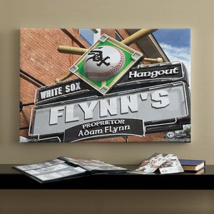 Personalized Chicago White Sox MLB Pub Sign Canvas Print - 11509