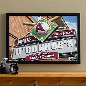 Personalized Los Angeles Angels MLB Pub Sign Canvas Print - 11513
