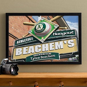 Personalized Oakland A's MLB Pub Sign Canvas Print - 11515