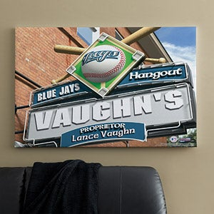 Personalized Toronto Blue Jays MLB Pub Sign Canvas Print - 11516