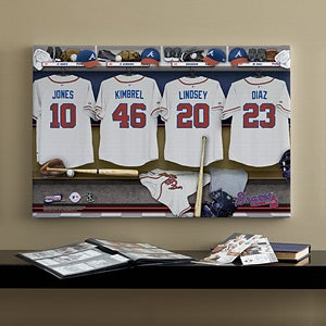 Personalized Atlanta Braves MLB Baseball Locker Room Canvas - 11532
