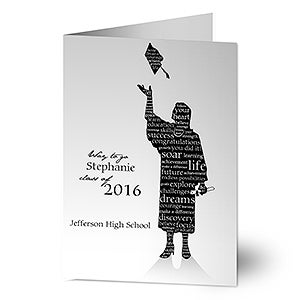 Personalized Graduation Greeting Cards - The Graduate - 11534