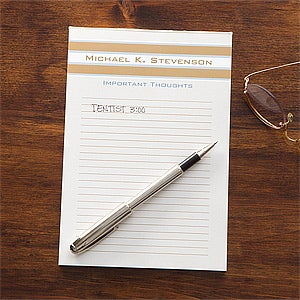 Personalized Notepads - Classy Stripes - 11543