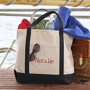 Personalized Weekend Tote Bag - Deluxe Weekender - 11547