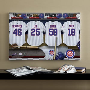 Personalized Chicago Cubs MLB Baseball Locker Room Canvas - 11552