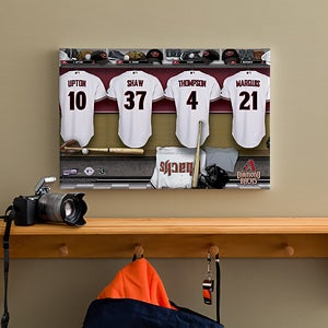 Personalized Arizona Diamondbacks MLB Baseball Locker Room Canvas - 11553