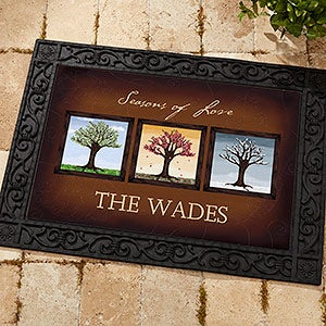 Personalized Family Doormats - The Seasons - 11561