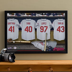 Personalized Cleveland Indians MLB Baseball Locker Room Canvas - 11566