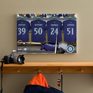 Personalized Seattle Mariners MLB Baseball Locker Room Canvas - 11567