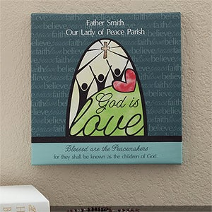Personalized Canvas Art - God Is Love - 11571