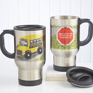 Personalized Travel Mug - Bus Driver - 11585