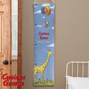 Personalized Growth Chart - Curious George - 11587
