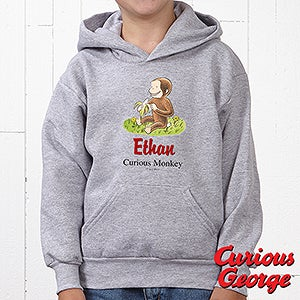 Personalized Kids Sweatshirts - Curious George - 11589