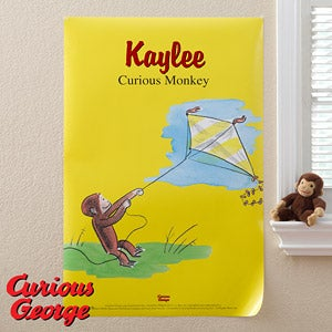Personalized Curious George Posters - 11599