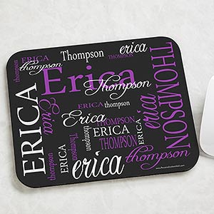 personalized mouse pads my name