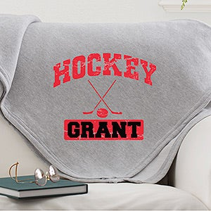 Personalized Sports Fleece Sweatshirt Blankets - Football, Baseball, Basketball - 11601