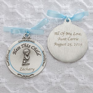 little medal en jewelry silver the prince baptism medallion