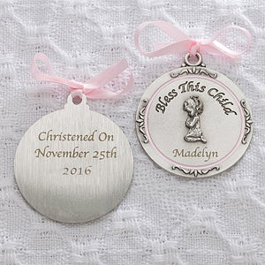 Personalized Crib Medallions - Bless This Child - 11607