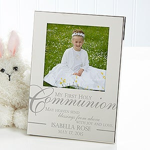 Engraved Silver Picture Frames - First Holy Communion - 11620