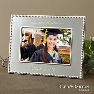 Engraved Silver Graduation Picture Frame - Reed & Barton - 11622