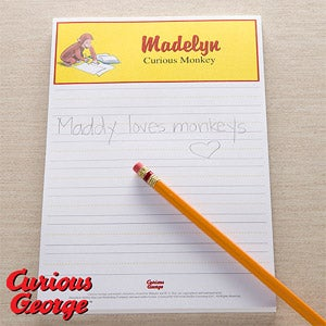 Personalized Curious George Notepads - 11637
