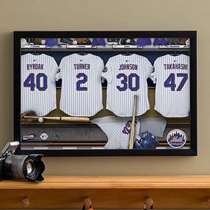 Personalized New York Mets MLB Baseball Locker Room Canvas - 11640