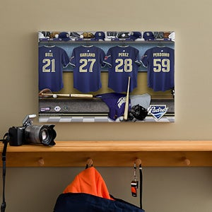 Personalized San Diego Padres MLB Baseball Locker Room Canvas - 11646