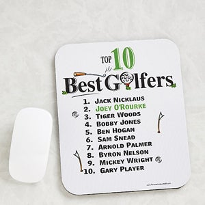 Personalized Golf Mouse Pads - Top 10 Golfers - 11655