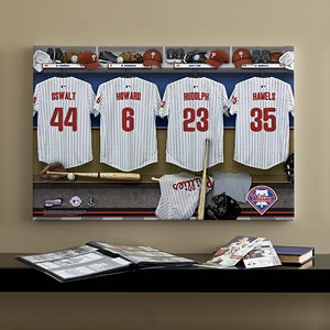Personalized Philadelphia Phillies MLB Baseball Locker Room Canvas - 11661