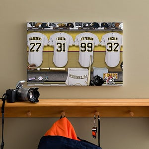 Personalized Pittsburgh Pirates MLB Baseball Locker Room Canvas - 11666