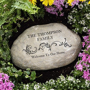 Personalized Garden Stones - Our Family - 11667