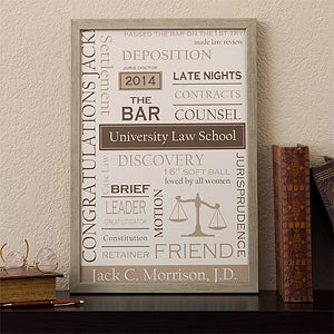 Personalized Canvas Artwork - Legal Professions - 11669