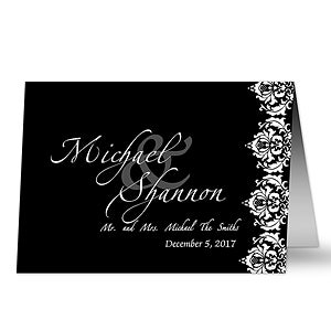 Personalized Wedding Greeting Cards - Wedding Couple - 11672