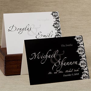 Personalized Wedding Greeting Cards - Wedding Couple - 11672