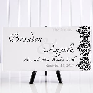 Personalized Wedding Canvas Art 11673