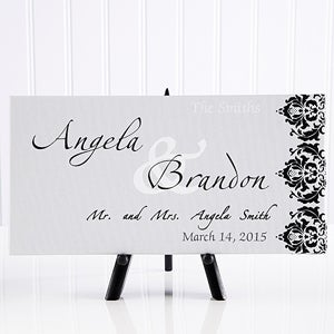 Personalized Wedding Canvas Art - Wedding Couple - 11673