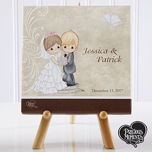 Personalized Precious Moments Bride & Groom Canvas Art - 11680