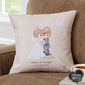 Personalized Wedding Pillows Precious Moments Bride Groom 11681