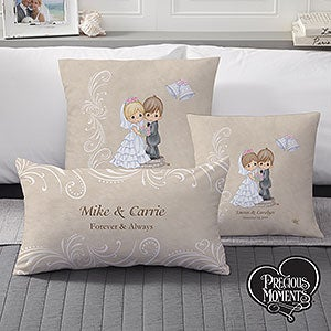 Personalized Wedding Pillows - Precious Moments Bride & Groom - 11681